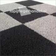 Samba zilvergrijs hoogpolige tapijttegels 50x50 cm