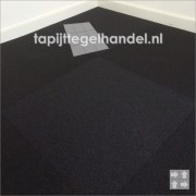 Tapijttegel Vanda zwart 899 van 50x50cm