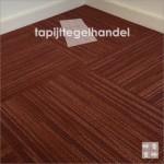 Rood gestreepte tapijttegel van Desso Libra Grooves
