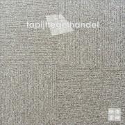 Grijs bruine tapijttegel van Desso Reclaim Ribs
