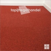 Modulyss Office 332 Fire Red rode tapijttegels 50x50