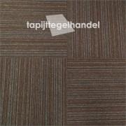Vanda Lines 873 donker bruine tapijttegel 50x50