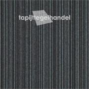 Vanda Lines zwarte tapijttegel 50x50cm