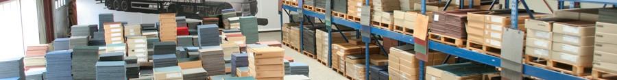 Meer dan 700m2 tapijttegels op voorraad