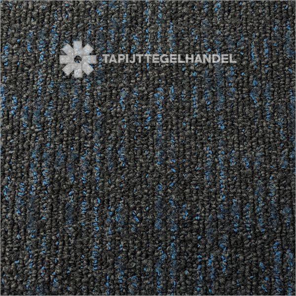 Antraciet met blauw tapijttegel TTH Aurora 4064 50x50 cm