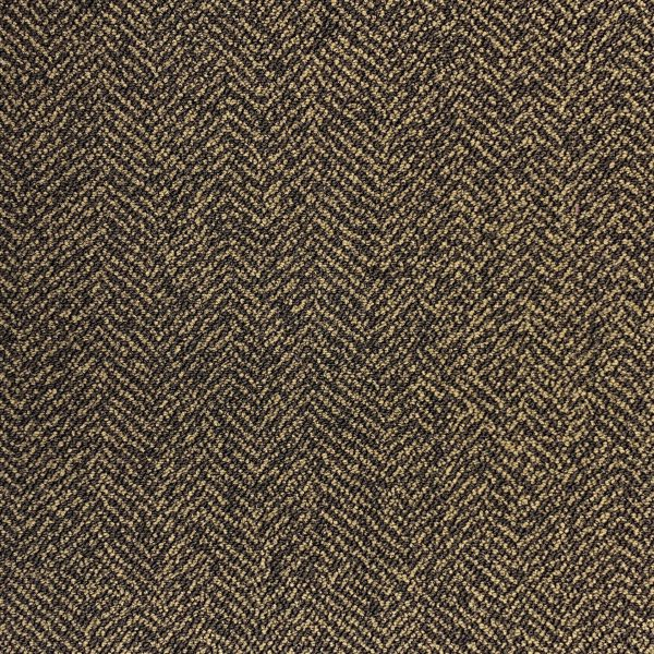 Object Carpet Fishbone 703 Brown Tapijttegel 1